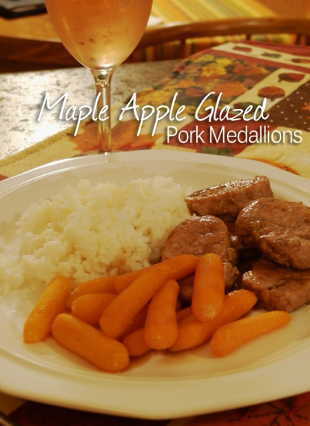 Maple Apple Glazed Pork Medallions