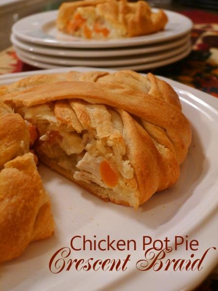 Chicken Pot Pie Crescent Braid