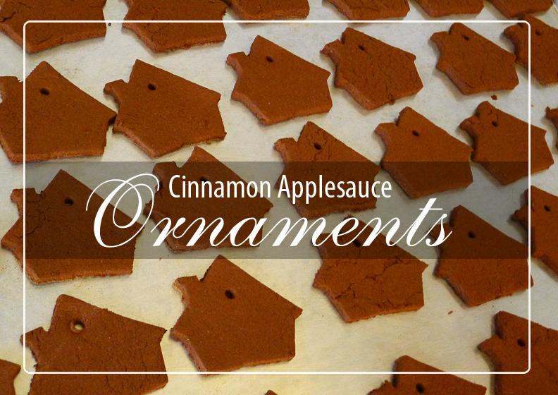 how to make homemade christmas ornaments with cinnamon and applesauce