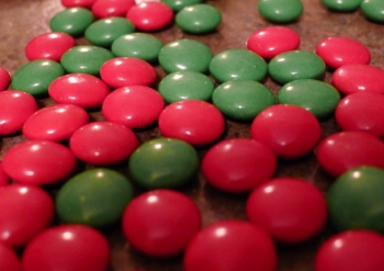 Christmas Pretzel M&M Treats