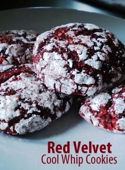 Red Velvet Cool Whip Cookies